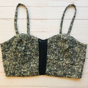 Pins & Needles Urban Outfitters Floral Crop Top